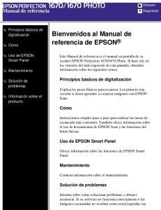 Bienvenidos al Manual de referencia de EPSON