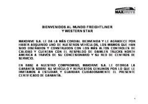BIENVENIDOS AL MUNDO FREIGHTLINER Y WESTERN STAR