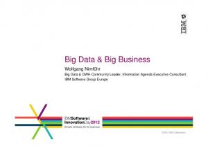 Big Data & Big Business
