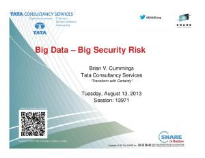 Big Data Big Security Risk