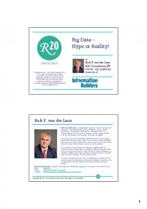 Big Data Hype or Reality?