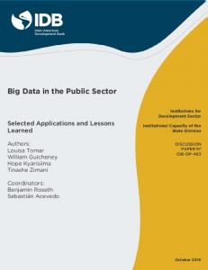 Big Data in the Public Sector