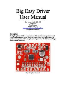 Big Easy Driver User Manual