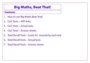 Big Maths, Beat That!
