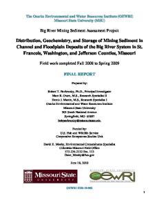 Big River Mining Sediment Assessment Project