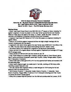 Big South Championship Notes A Look Back at Saturday s Win over Campbell