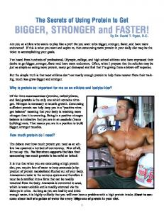 BIGGER, STRONGER and FASTER!