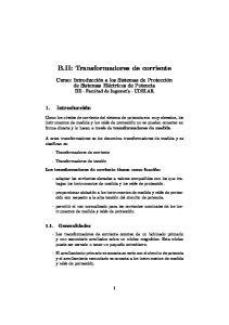 B.II: Transformadores de corriente