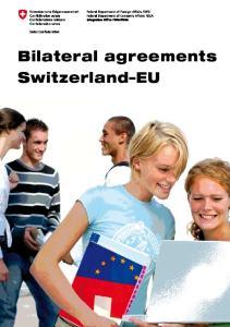 Bilateral agreements Switzerland EU