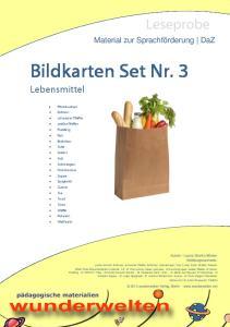 Bildkarten Set: Lebensmittel - 3