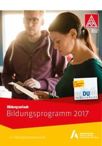 BILDUNG. Bildungsurlaub Bildungsprogramm im Bezirk Küste. wwbildungsportal-kueste.de. Bezirk Küste