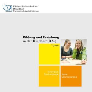 Bildung und Erziehung in der Kindheit (B.A.)