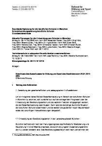 Bildung und Sport Fachabteilung 1 Berufliche Schulen RBS-F1
