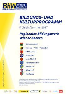 BILDUNGS- UND KULTURPROGRAMM