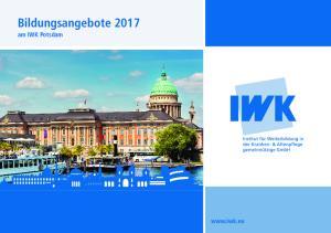 Bildungsangebote 2017 am IWK Potsdam