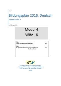 Bildungsplan 2016, Deutsch. Modul 4