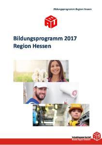 Bildungsprogramm Region Hessen. Bildungsprogramm 2017 Region Hessen