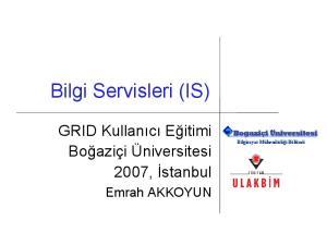 Bilgi Servisleri (IS)