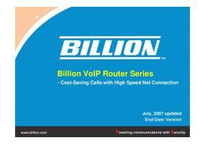Billion VoIP Router Series
