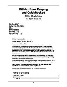 BillMax Book Keeping and QuickBooks