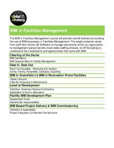 BIM in Facilities Management