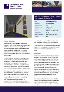 BIMXtra Springfield Primary School, Sale, Greater Manchester