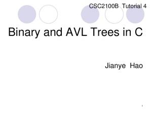 Binary and AVL Trees in C