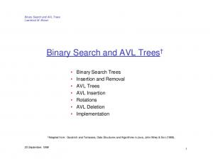 Binary Search and AVL Trees