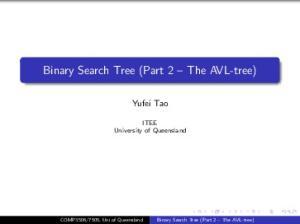 Binary Search Tree (Part 2 The AVL-tree)