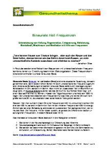 Binaurale Heil-Frequenzen