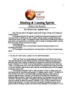 Binding & Loosing Spirits