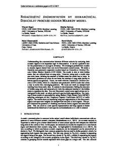 BIOACOUSTIC SEGMENTATION BY HIERARCHICAL DIRICHLET PROCESS HIDDEN MARKOV MODEL