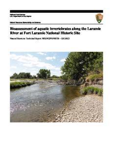 Bioassessment of aquatic invertebrates along the Laramie River at Fort Laramie National Historic Site