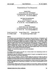 Bioavailability of Tea Components