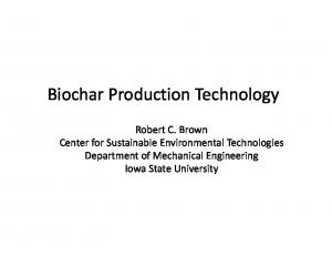 Biochar Production Technology