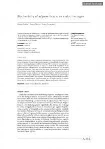 Biochemistry of adipose tissue: an endocrine organ
