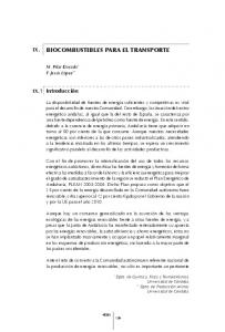 BIOCOMBUSTIBLES PARA EL TRANSPORTE