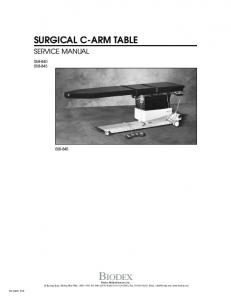 BIODEX SURGICAL C-ARM TABLE SERVICE MANUAL