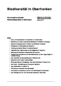 Biodiversität in Oberfranken