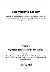 Biodiversity & Ecology