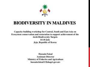 BIODIVERSITY IN MALDIVES