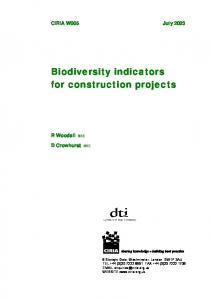 Biodiversity indicators for construction projects
