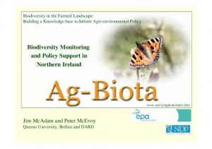 Biodiversity Monitoring and Policy Support in Northern Ireland