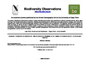 Biodiversity Observations