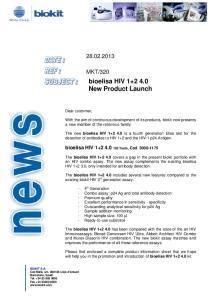 bioelisa HIV New Product Launch