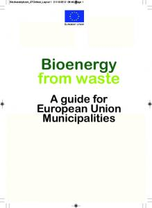 Bioenergy from waste. A guide for European Union Municipalities