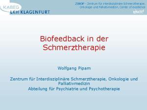 Biofeedback in der Schmerztherapie