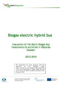 Biogas electric hybrid bus