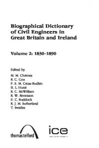 Biographical Dictionary of Civil Engineers in Great Britain and Ireland