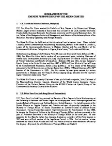 BIOGRAPHIES OF THE EMINENT PERSONS GROUP ON THE ASEAN CHARTER